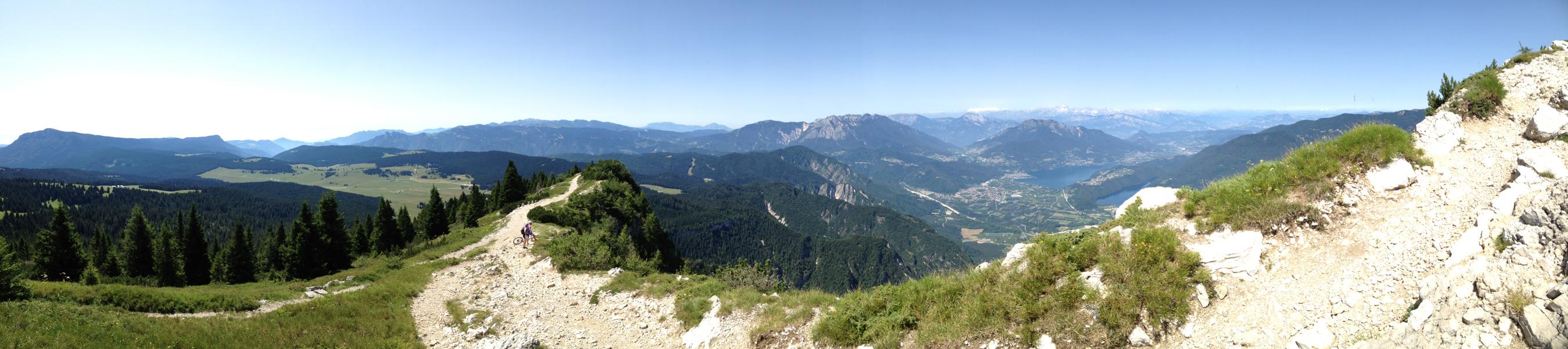 Panoramica vicino alla cima