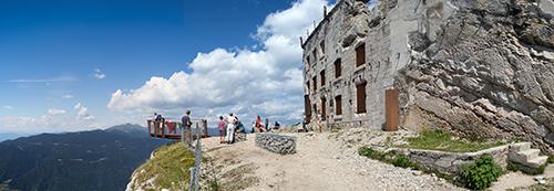 Vista del Forte Vezzena