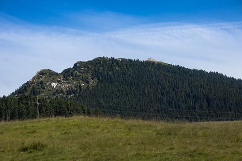 Il Pizzo di Levico, visto dal Passo di Vezzena.