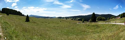 Panoramica dalla stradina per il Forte Busa
