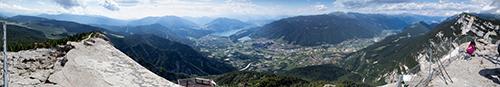 Panoramica dal tetto del Forte Vezzena