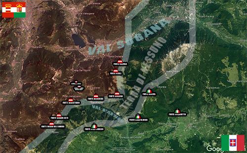 La mappa all'inzio del conflitto