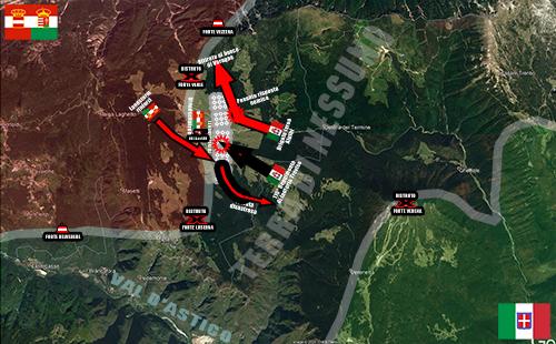 La mappa della Battaglia del Col Bosson